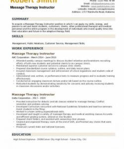 Best Massage Therapist Job Description Template Excel Example