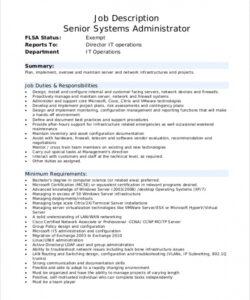 Best Network Administrator Job Description Template  Example