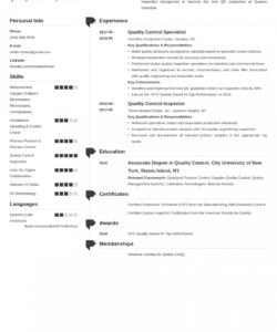 Best Quality Control Job Description Template Pdf Sample