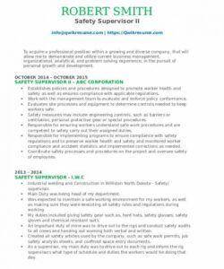 Best Safety Manager Job Description Template Word
