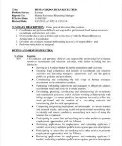 Best Supervisor Job Description Template Pdf Example