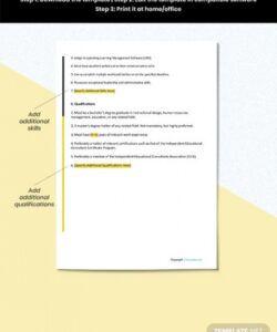 Best Trainee Job Description Template Doc Example