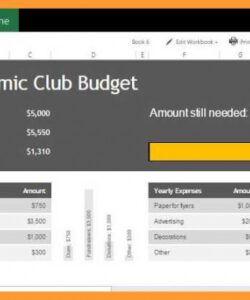 Best University Department Budget Template Excel