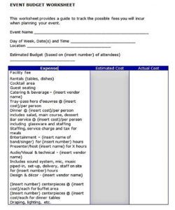 Costum Bar Operating Budget Template Excel