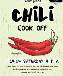 Costum Chili Cook Off Flyer Template Excel Example