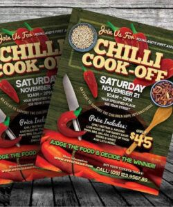 Costum Chili Cook Off Flyer Template  Sample