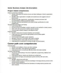 Costum Competency Based Job Description Template Doc Sample