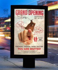 Costum Grand Opening Flyer Template Doc Example