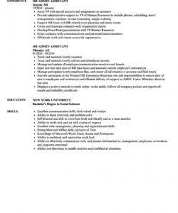 Costum Human Resources Assistant Job Description Template Doc Sample