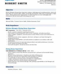 Costum Kitchen Manager Job Description Template Excel Example