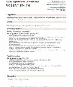 Costum Plant Manager Job Description Template Pdf Example