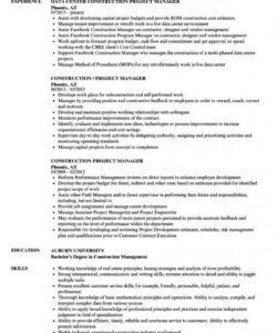 Costum Project Manager Job Description Template Free  Sample