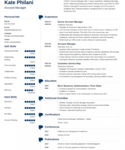 Editable Account Manager Job Description Template Doc Example
