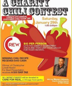 Editable Chili Cook Off Flyer Template Excel