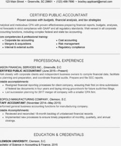 Editable Financial Accountant Job Description Template Pdf