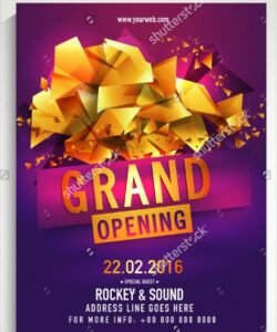 Editable Grand Opening Flyer Template Doc Sample