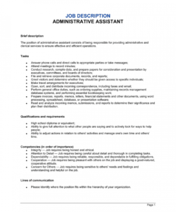Editable Marketing Assistant Job Description Template Pdf Example