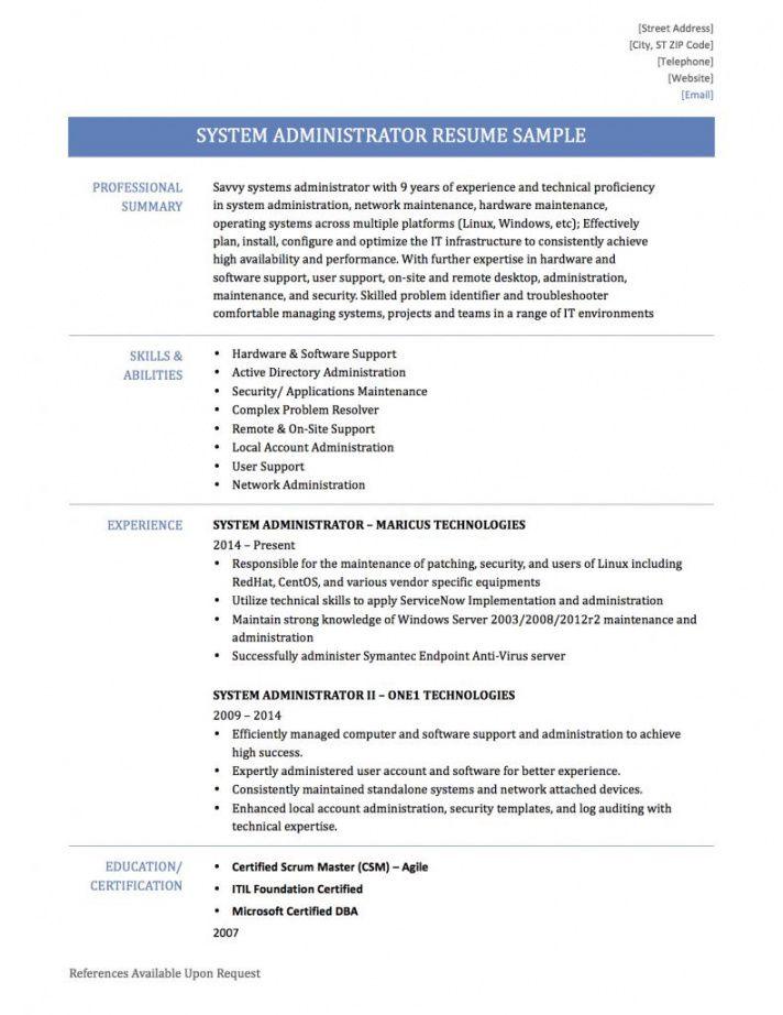 Editable Network Administrator Job Description Template Pdf