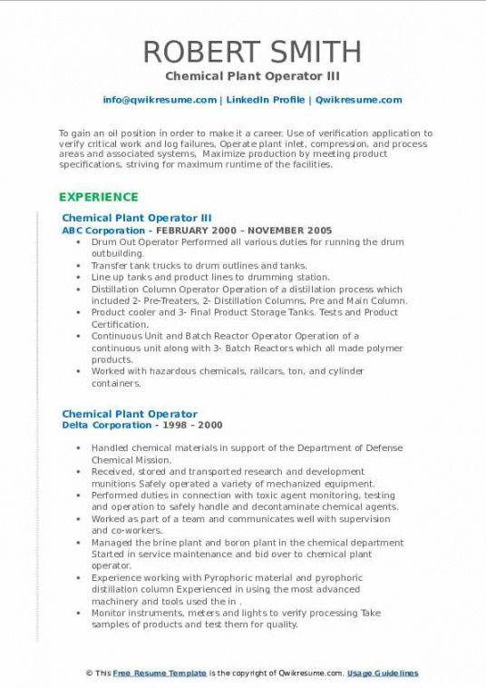 Editable Plant Manager Job Description Template Excel