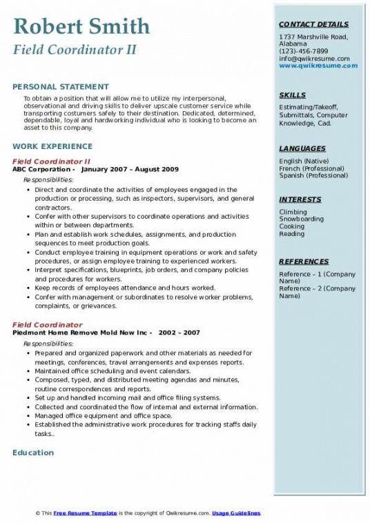 Editable Program Coordinator Job Description Template Doc Sample