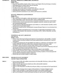 Editable Quality Control Job Description Template Doc
