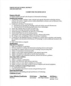 Editable Trainee Job Description Template Doc Example