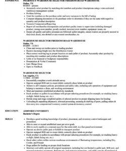 Editable Warehouse Job Description Template Excel Sample