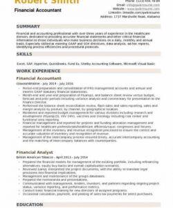 Financial Accountant Job Description Template Doc Example