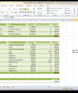 Free Budget And Expenses Template Excel Sample