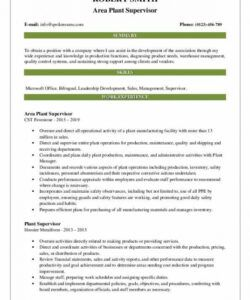 Free Plant Manager Job Description Template