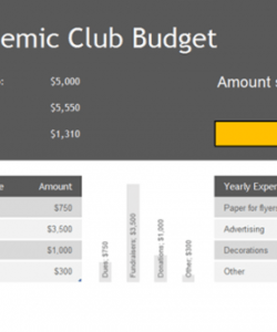Free University Department Budget Template Pdf