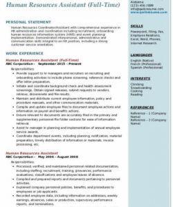 Human Resources Assistant Job Description Template Pdf
