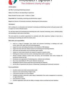 Marketing Assistant Job Description Template Word