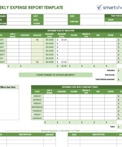 Printable Budget And Expenses Template Word
