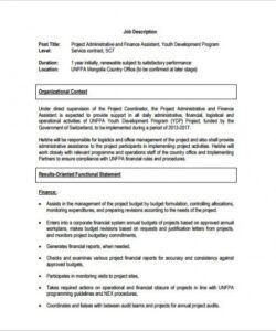 Printable Financial Accountant Job Description Template Pdf Example