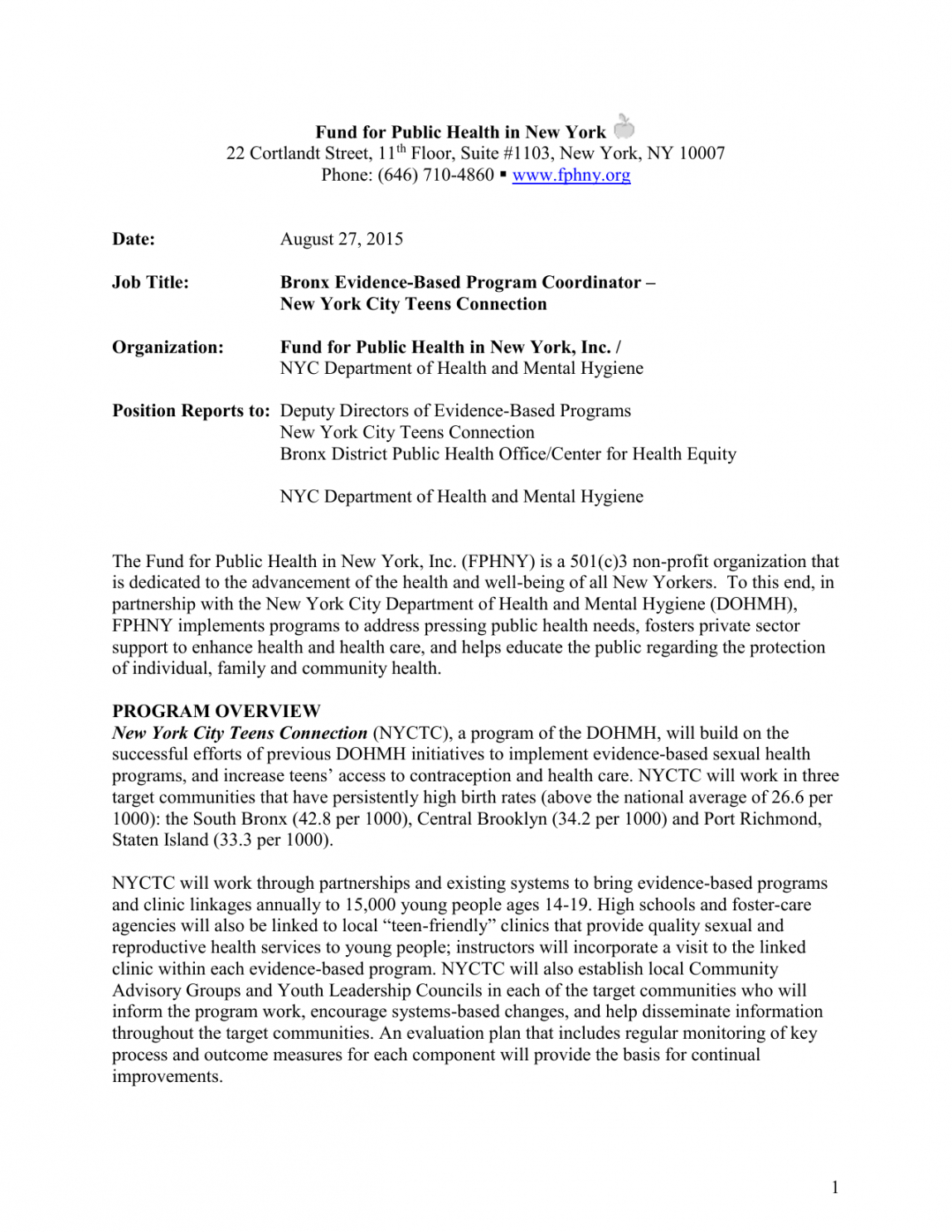Printable Program Coordinator Job Description Template  Sample