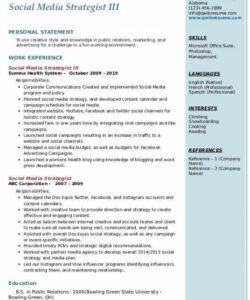 Printable Social Media Manager Job Description Template