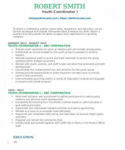 Printable Youth Pastor Job Description Template Pdf Example