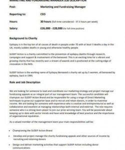 Professional Church Volunteer Job Description Template