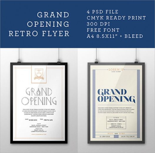 Professional Grand Opening Flyer Template Doc Sample