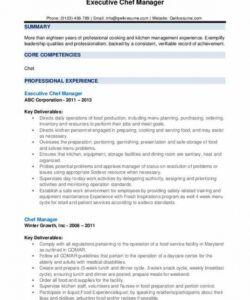 Professional Kitchen Manager Job Description Template Excel