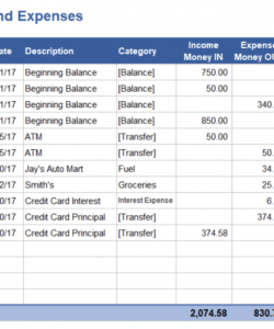 Professional Library Operating Budget Template Excel Example