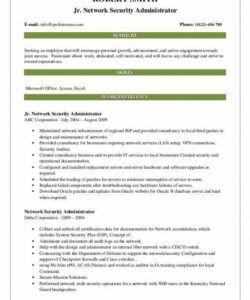 Professional Network Administrator Job Description Template Pdf