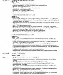 Professional Warehouse Job Description Template Word Sample