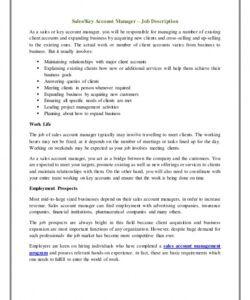 Supervisor Job Description Template Excel Sample