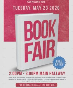 Best Book Fair Flyer Template Pdf Sample