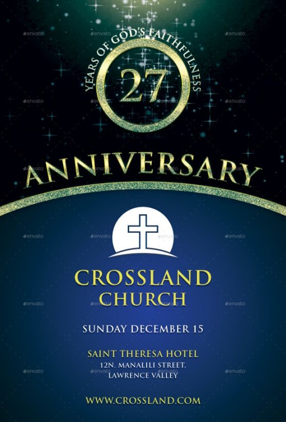Best Church Anniversary Flyer Template Word Example