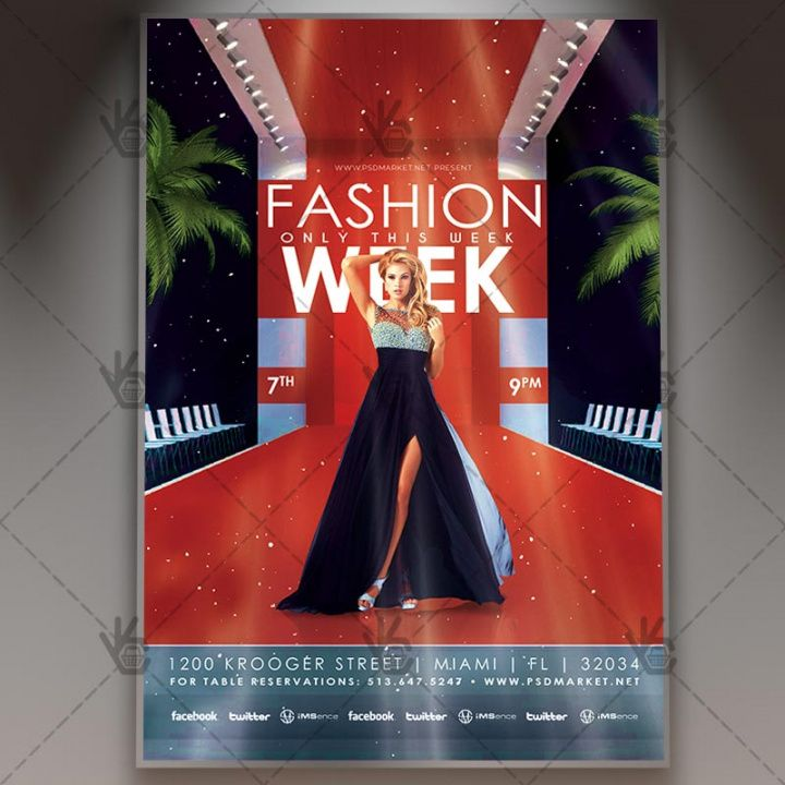 Best Fashion Show Flyer Template Excel Sample