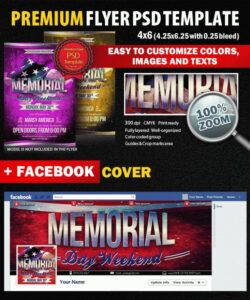 Best Memorial Day Flyer Template Doc Example