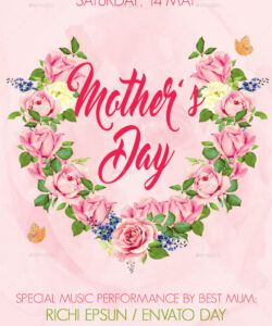 Best Mother Day Flyer Template Excel